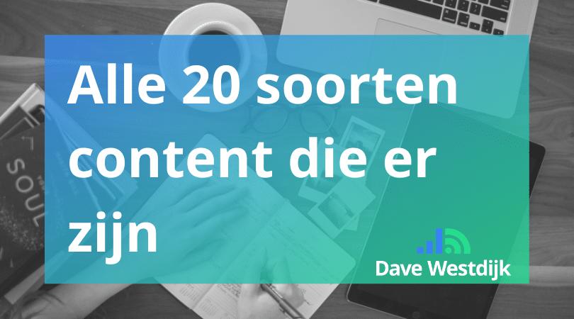 20 soorten content