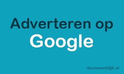 adverteren op google davewestdijk.nl
